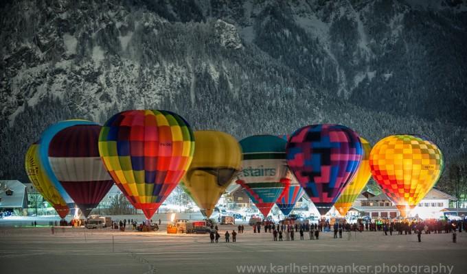 Ballonglühen in Inzell