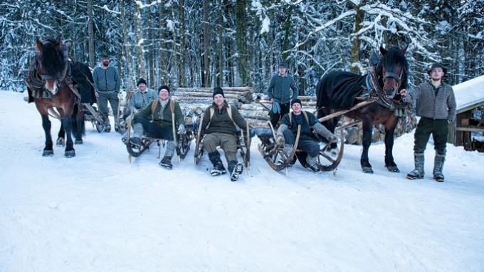 Historischer Winterzug in Hachau