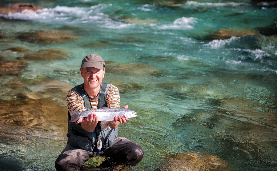Flyfishing Soča River