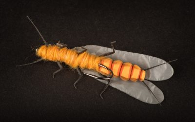Salmon Fly Orange Adult #2 - biiig!